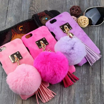 Winter Fur Ball Tassel Iphone Cases
