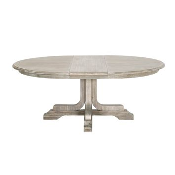 "Torrey 60"" Round Extension Dining Table Natural Gray 