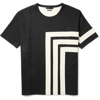 Alexander McQueen - Geometric Patterned Cotton-Jersey T-Shirt | MR PORTER