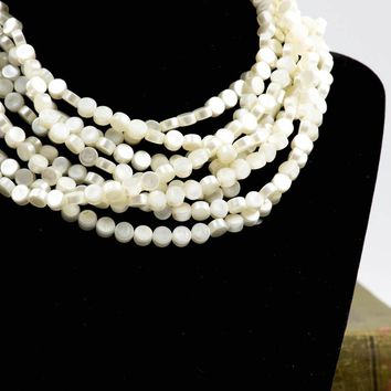 Vintage Seed Bead Necklace  - Vintage Necklace - Endless Strands  - Statement Necklace  - Gift for her  - Layered Necklace  - Mom Gift