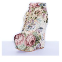 Jeffrey Campbell 'Damsel' wedge, tapestry - Ashbury Skies