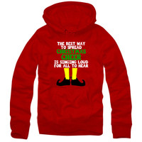 The Best Way To Spread Christmas Cheer Elves Santa Clause hoodie hoodie hoodie h