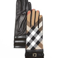 Burberry Bridle Housecheck Nicola Cuff Gloves