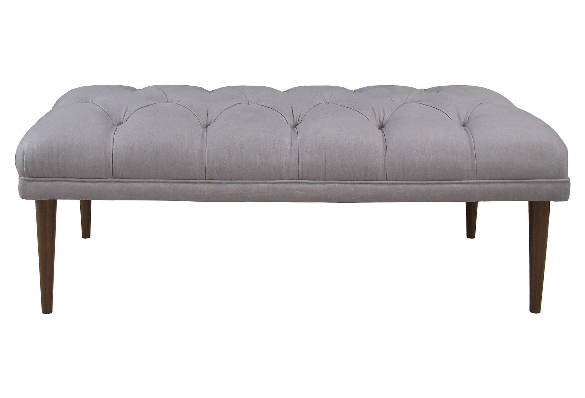 Tufted Foyer Bench : Colette quot tufted bench gray entryway from one kings lane