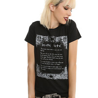 Death Note Rules Girls T-Shirt