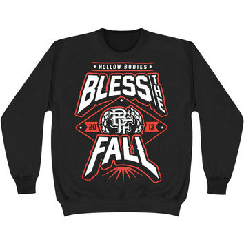 Bless The Fall Men's  Hollow Bodies Sweatshirt Black Rockabilia