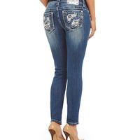 Miss Me Distressed-Pocket Skinny Jeans | Dillards