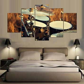 Canvas Wall Art Posters Prints Canvas Painting 5 Panel Music Landscape Wall Pictures For Living Room Home Decor Frames PENGDA