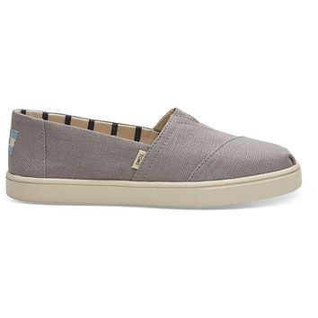 TOMS - Women's Cupsole Venice Collection Classics Morning Dove Heritage Canvas Slip-Ons