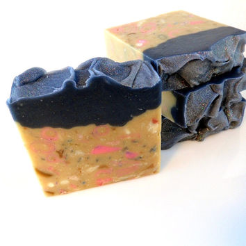 Hippie Hangover Soap - patchouli scent pure essential oil - with buttermilk, oat milk and silk - cold process