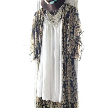 Coachella Vintage gauze dress, white bohemian beach festival dresses, goddess gypsy spell sundresses, vintage Hippie, True rebel clothing