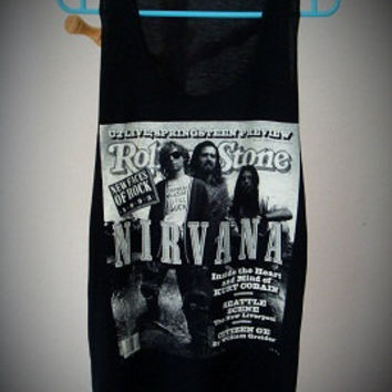 Nirvana Rock new t-shirt tank top vest singlet black women men size L