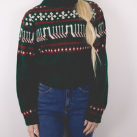Vintage Tribal Aztec Print Sweater