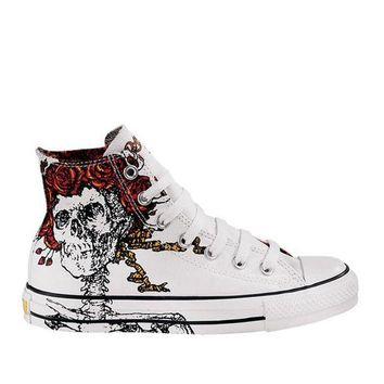 ONETOW Converse Chuck Taylor- White High-Top Grateful Dead Sneaker