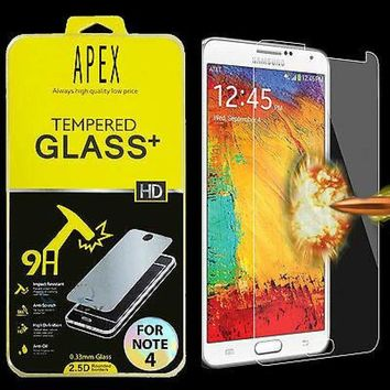 Premium Real Tempered Glass Film Screen Protector for Samsung Galaxy Note 4 635909324737