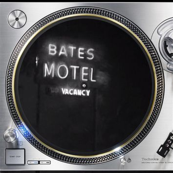 Bates Motel Vintage 2 Horror 12 inch  Slip mat Turntable Vinyl decor Record collection DJ audiophile 16 ounce Slipmat x1.