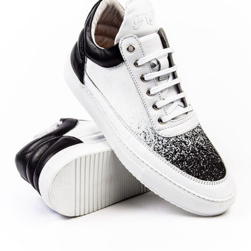 Filling Pieces Low Top Degrade Black/White Sneaker