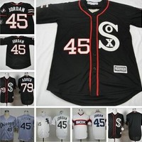 Chicago White Sox Jersey #79 Jose Abreu #45 Micheal Jordan Stitched  Baseball Jersey