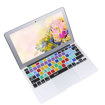 Adobe Photoshop Shortcut keys Keyboard Shortcut Design Functional Silicone Cover For Macbook Pro Air 13 15 17 Protector Sticker