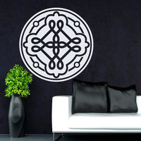 Flower Wall Decals Mandala Curles Om Yoga Pattern Oum Sign Living Room Interior Vinyl Decal Sticker Art Mural Bedroom Kids Room Decor MR378