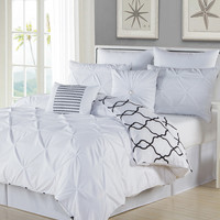 Duck River Esy Reversible Comforter Set - White -