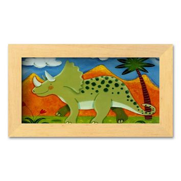 Art.com ''Timmy the Triceratops'' Framed Art Print by Sophie Harding