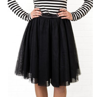 Just Dance Black Tulle Skirt
