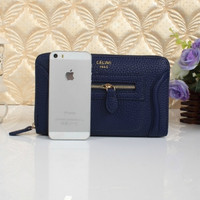 CELINE SMILE WALLET BAG MATCH SINGLE ZIPPER WALLET