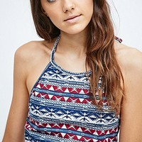 Staring at Stars Tribal Halterneck in Red - Urban Outfitters