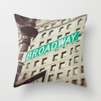 Broadway Throw Pillow by Carmen Moreno Photography