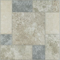 "Park Avenue Marble Blocks 12"" x 12"" Self Adhesive Vinyl Floor Tile - 20 Tiles"