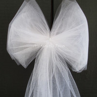 White or Ivory Tulle Bow