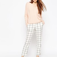 ASOS | ASOS Slim Leg Pants in Grid Check at ASOS