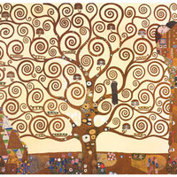 Gustav Klimt Tree of Life Art Poster 11x17