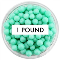 Pearly Mint Green Sugar Pearls 1 LB