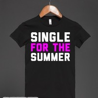Single for the Summer-Female Black T-Shirt