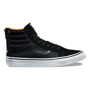 qiyif VANS BOOM BOOM SK8-HI SLIM ZIP - BLACK/TRUE WHITE