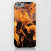 Sitting By the Crackling Fire iPhone & iPod Case by Gwendalyn Abrams