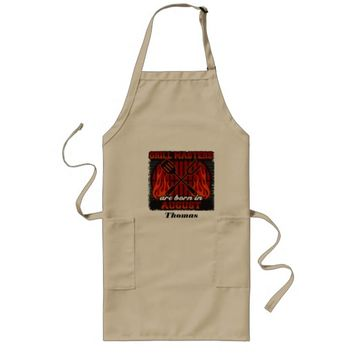 Grill Masters Are Born In August Personalized Long Apron