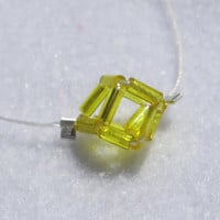 Minimalist Yellow Geometrical Necklace. Modern, Chic and 3D