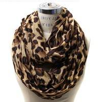 Scarfand's Leopard Infinity Scarf:Amazon:Clothing