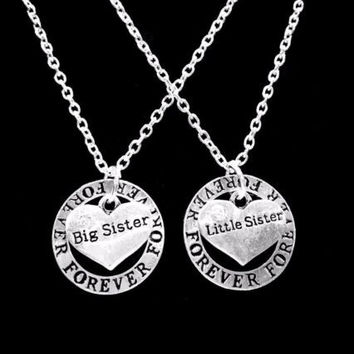 2 Necklaces Forever Partners In Crime Big Sister Little Sister