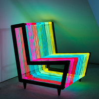 Illuminated Armchair That Could Flash On and Off – Disco Chair | DigsDigs
