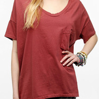 Skargorn Oversized V-Neck Tee  - Rust Orange