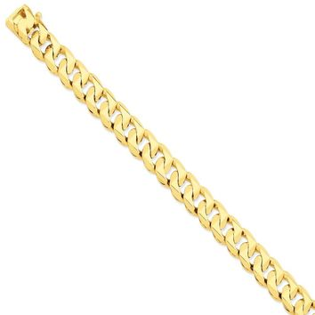 14k Yellow Gold 12.00mm Men Traditional Curb Chain Bracelet - Fine Jewelry Gift