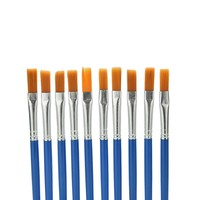 Kids Children Plastic Handle Paint Brush Set Watercolor Gouache Drawing Painting Art Supplies