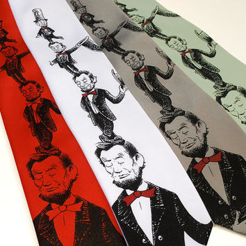 Abe in the Hat - Lincoln Dr. Seuss Parody Necktie