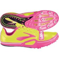 Brooks Women's PR Sprint 11:38 Track and Field Shoe - Yellow/Pink | DICK'S Sporting Goods