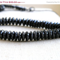 51% OFF Black Spinel Gemstone Faceted Rondelle German Cut 9mm 21 beads Wholesale