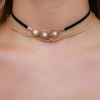 Trilogy Choker Set - Black